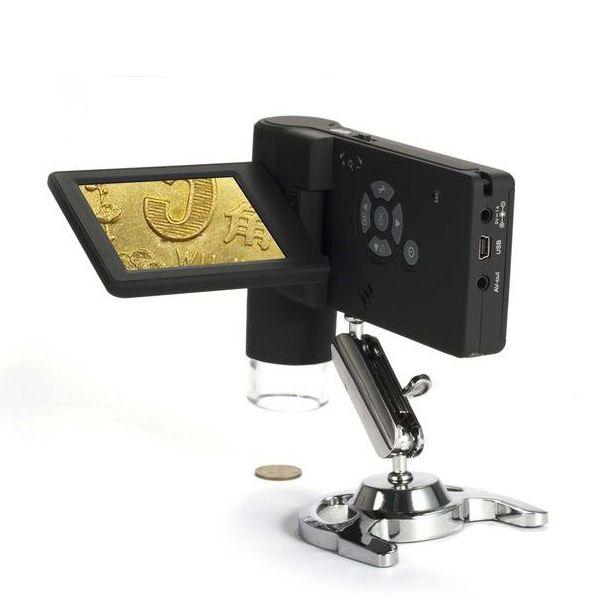 portátiles 500x microscopio 5MP HD móvil grabador de tarjeta de tf cámara de televisión con pantalla de 3 pulgadas plegable y 8 LED indicadores de interfaz de salida de TV