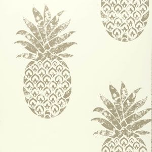 colony wallpaper clarke and clarke A modern wallpaper with a cute metallic pineapple motif available to order from our site and Westcliff shop #homedecor #wallpaper #metallic #pineapple