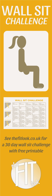 Wall Sit Challenge 17 Best ideas about Wa...