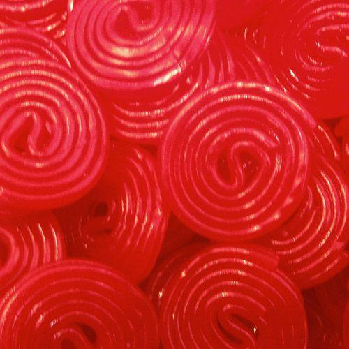 : Ruedas de regaliz rojo