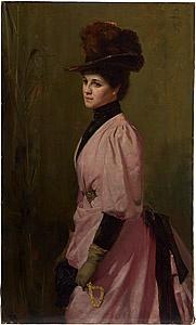 Artist:  Tom Roberts  An Australian Native (Portrait of a Lady) 1888  NGA