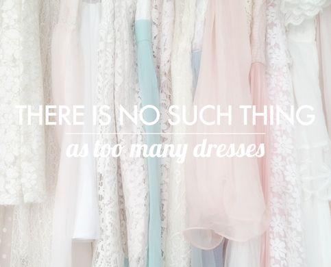 too many dresses - 8x10 art print