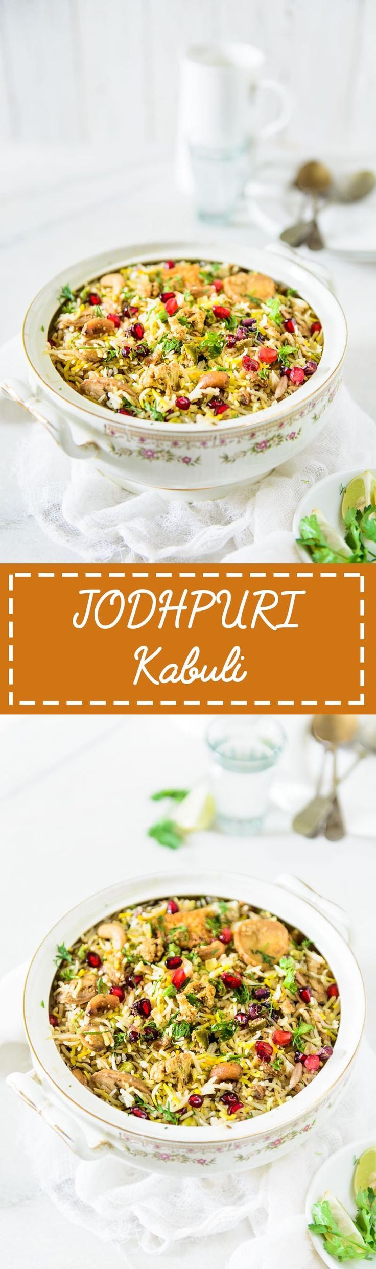 Jodhpuri Kabuli is a rice preparation from the Jodhpur city of Rajasthan. The rice is cooked along with vegetables and mild spices. #Indian #Rajasthani #Rice #Recipe