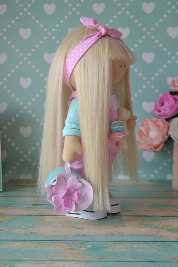 Tilda doll Cloth doll Love doll Textile doll Handmade doll