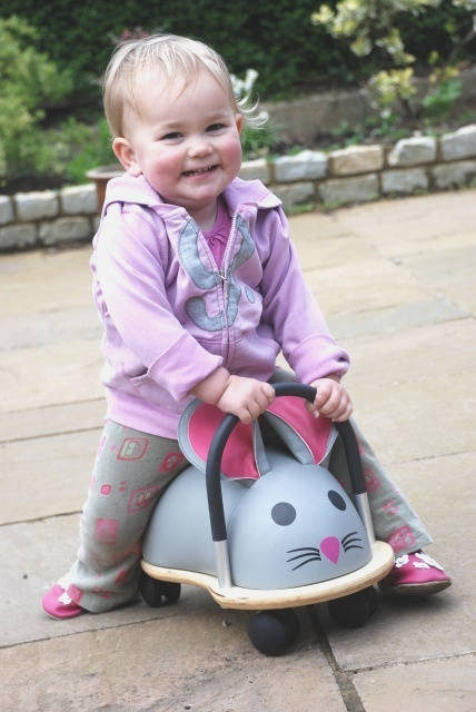 Wheelybug Mouse wooden ride on toy for children