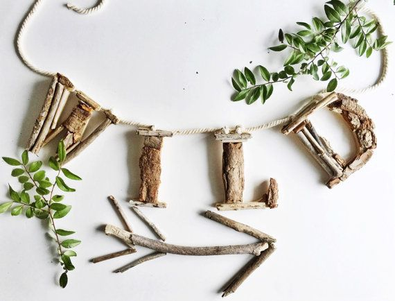 These Woodland Nursery driftwood letters W I L D are absolutely gorgeous! They are hand made and designed with 100% natural driftwood straight from