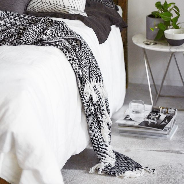 T.D.C | Indie Home Collective: new Online Store | Black + white bedroom | Patterns + Textiles | Modern Home Interiors | Contemporary Decor Design #inspiration #nakedstyle