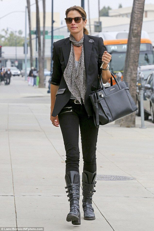 Looking fab: She's been an icon of fashion for decades and on Thursday Cindy Crawford kept...
