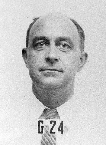 Enrico Fermi's badge photograph from Los Alamos National Laboratory