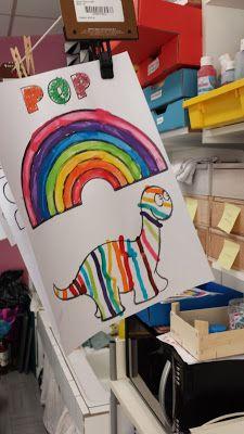La maternelle de Laurène: Pop mange de toutes les couleurs / art visuel
