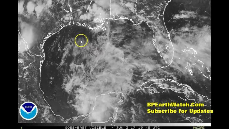 Tropical Low Moves into the Gulf of Mexico