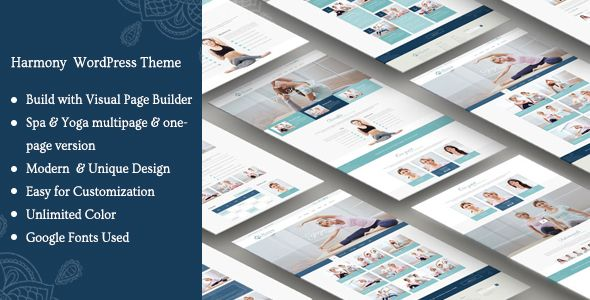 A Harmony Yoga Spa WordPress Theme The Harmony Yoga Spa HWordPress Theme is a Bootstrap based creative, unique & modern one page, multi page and multi-purpose template. Specially made for yoga, Spa...