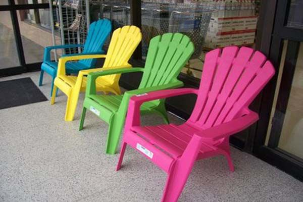 colorful plastic adirondack chairs  2