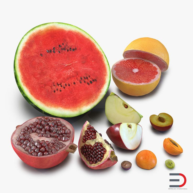 Cross Section Fruits Collection 2 3D Models