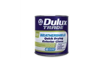 Ριπολίνη γυαλιστερή νερού  Weathershield Quick Drying Exterior Gloss Dulux Εξαιρετικής ποιότητας ριπολίνη με ζωντανή και ανθεκτική στο χρόνο γυαλάδα.