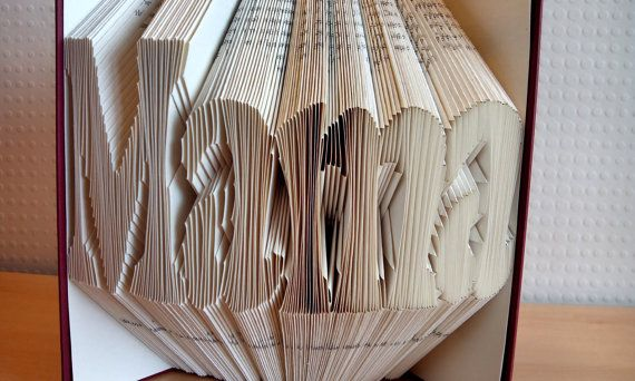 Folded Book Sculpture - Folded Book Art - Mother's Day Gift - MAMA - Unique Present - Book Lover - Home Decor - Presents for Mothers / Moms - Handmade - Unique Gift  Mother's day is around the corner! It's time to start planning a head of time so you can give your mother/step-mother/grandmother/great-grandmother a thoughtful gift to remember!