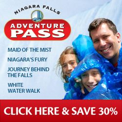 Niagara Adventure Pass (Maid of the mist, Niagara's fury, journey behind the falls, white water walk)