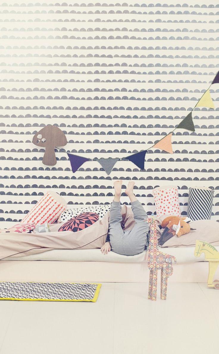 wallpaper/pillows/fabric my scandinavian home: Children's bedrooms