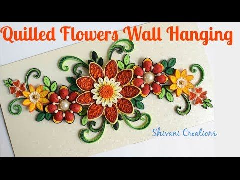 Quilled Flowers Wall Hanging 3d Quilling Orange Flowers Paper