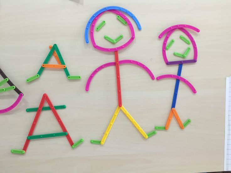 Students fun family creation using  Junior GeoStix in EYFS workshop #edxeducation #earlyyears #mathmanipulatives #educationaltoys #handson #learningisfun