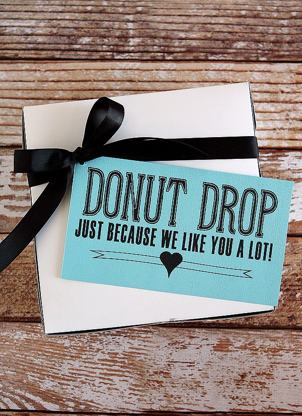 fun printable for a donut drop