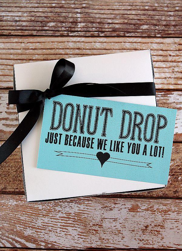 fun printable for a donut drop