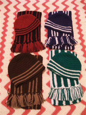 Men's and Boy's Hat and Scarf Sets - Crochet Me