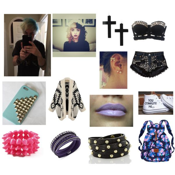 Hanging out with Michael Clifford by fivesaucescondiment on Polyvore featuring Victoria's Secret, Brahmin, Swarovski and Amrita Singh