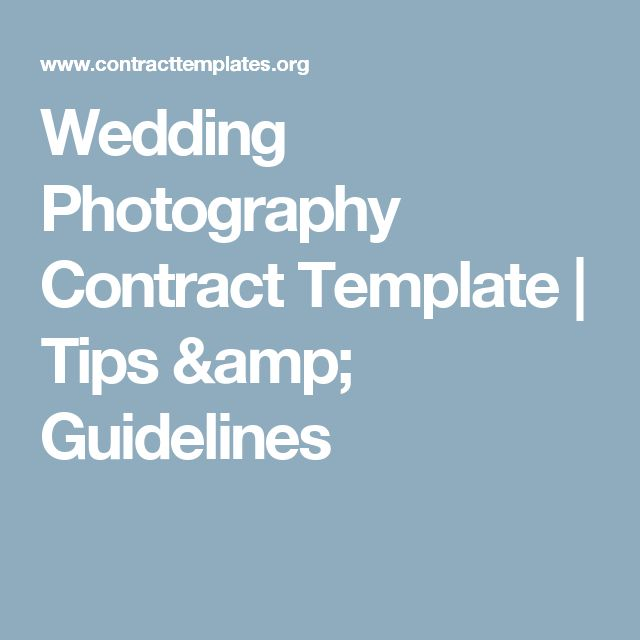 The 25+ best Wedding photography contract ideas on Pinterest - planner contract template