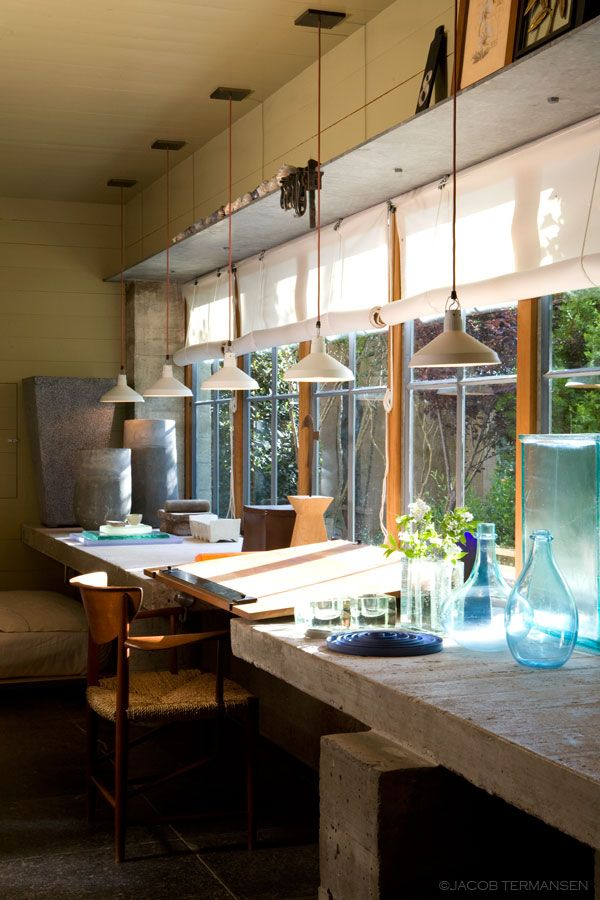 Kitchen counter with a view, photo: Jacob Termansen, Mell Lawrence Architects