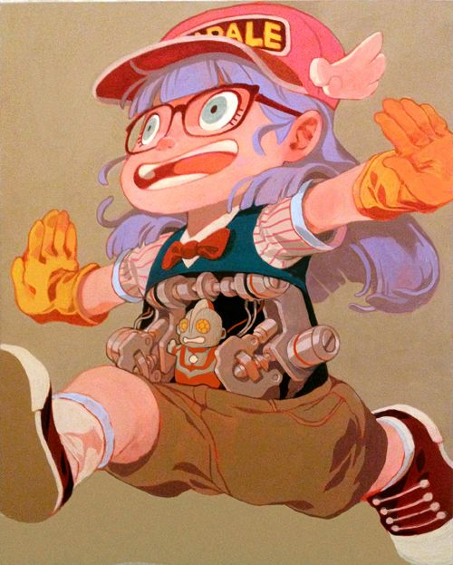 Arale/'KIII-N!' For QPop Shop's Akira Toriyama/Dragonball 30th Show by Sachin Teng