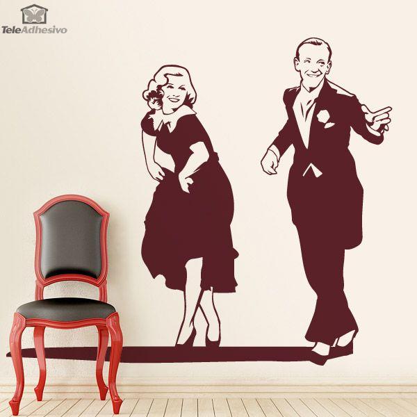 Vinilo decorativo pareja de baile