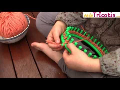Tricotin Circulaire : point mousse - mailles endroit - YouTube