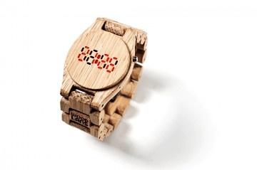 drewniany zegarek na rękę Woodlans Unisex Led