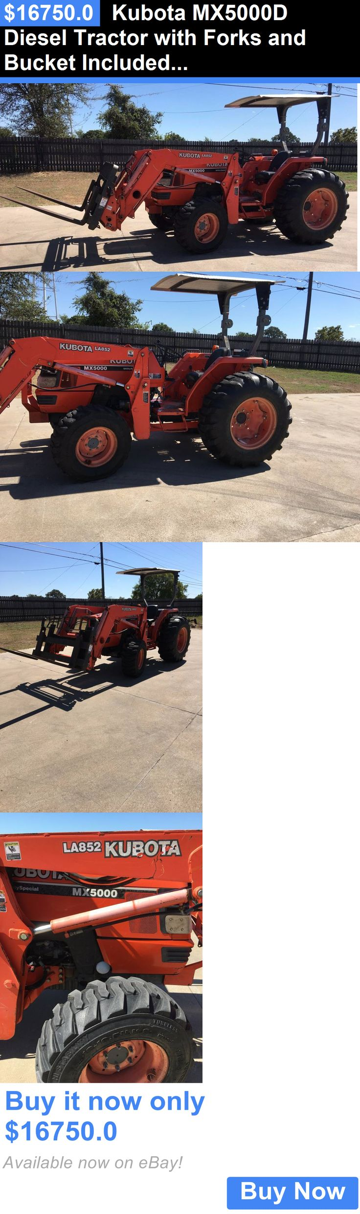 heavy equipment: Kubota Mx5000d Diesel Tractor With Forks And Bucket Included Used 958 Hours BUY IT NOW ONLY: $16750.0
