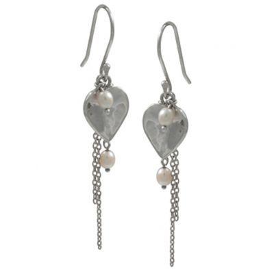 Jewellery :: .925 Silver :: Tia heart earrings - $75