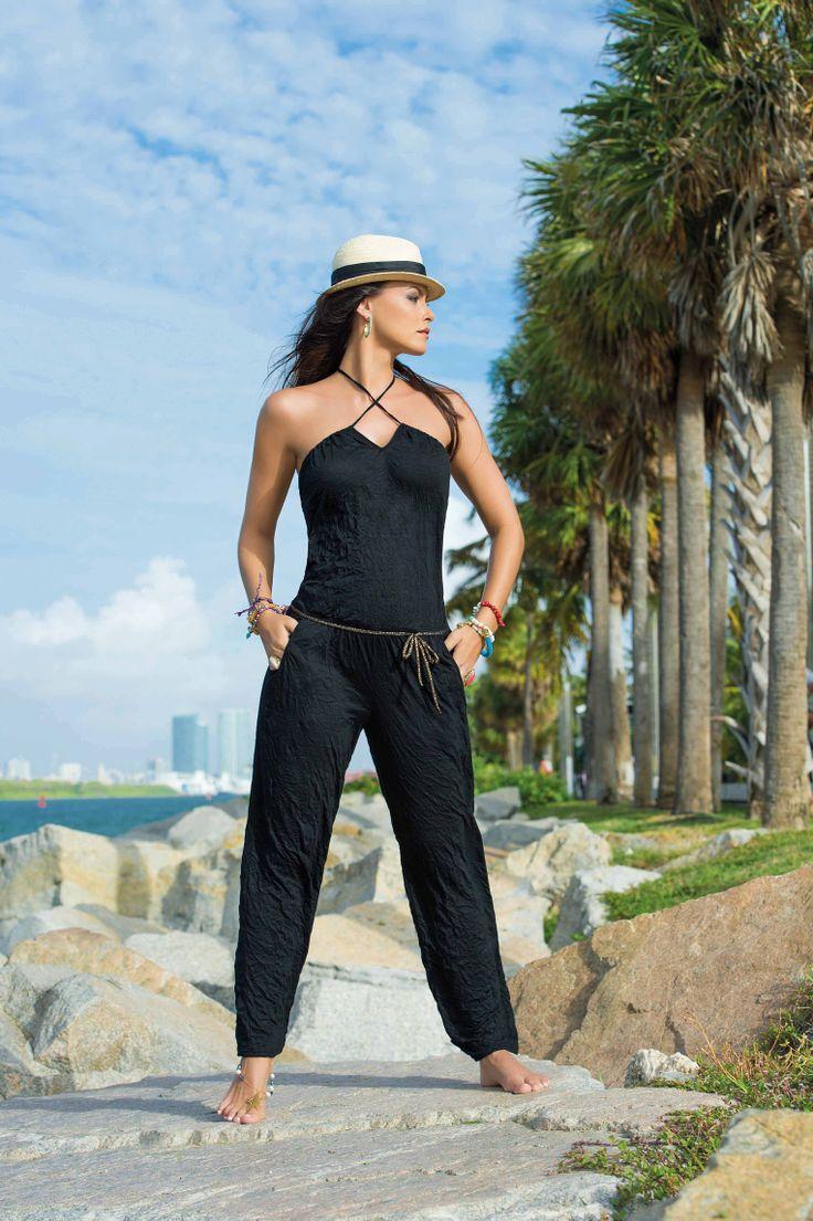 Garotas - Enterizo Pantalón Ref 764 #Playa #Beach #Beachwear #Fashion #Moda #Verano