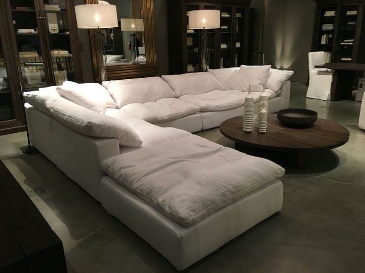 "Restoration Hardware Sectional ""cloud"" couch"
