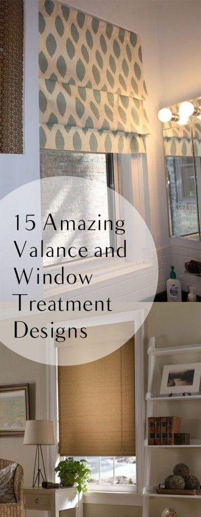 15 Amazing Valance and Window Treatment Designs