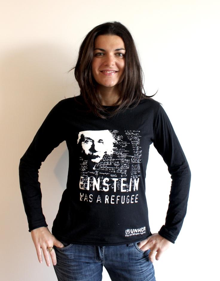 Einstein was a refugee - altraQualità for UNHCR  http://www.facebook.com/media/set/?set=a.294316510591573.71461.118713758151850=1