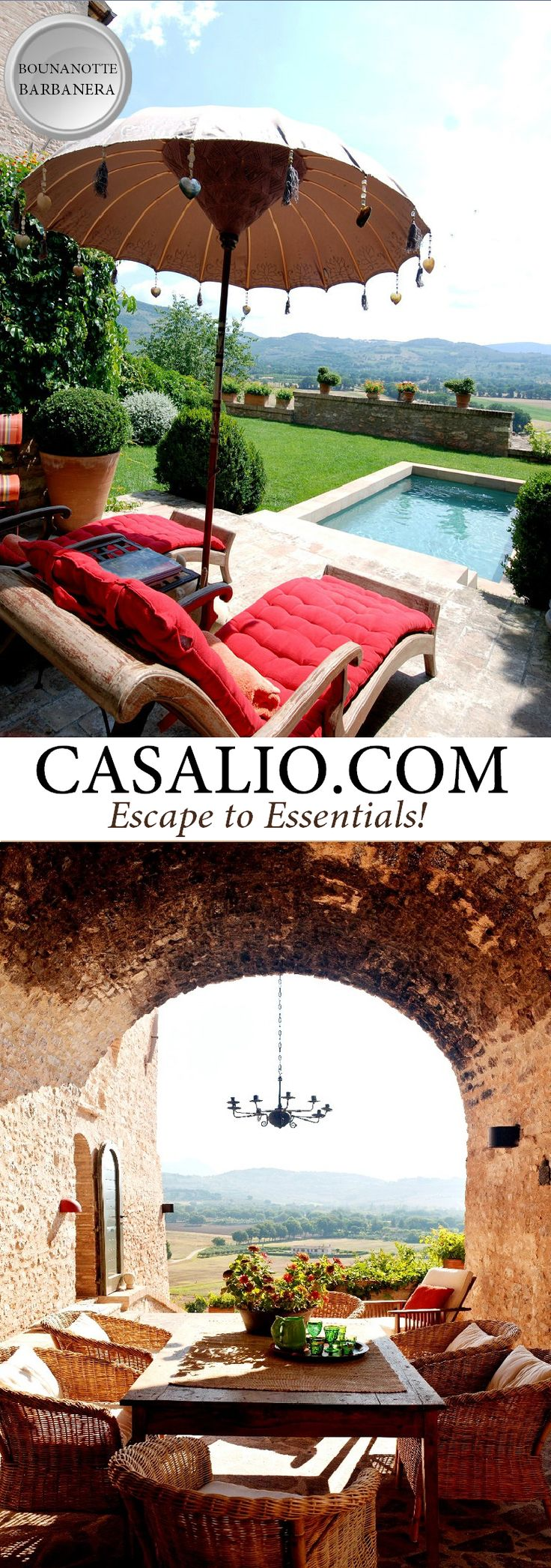 Umbria Holiday Villas -  www.casalio.com    Buonanotte Barbanera    Only a 2 hour drive from Rome and…
