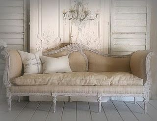 victorian couch in cream
