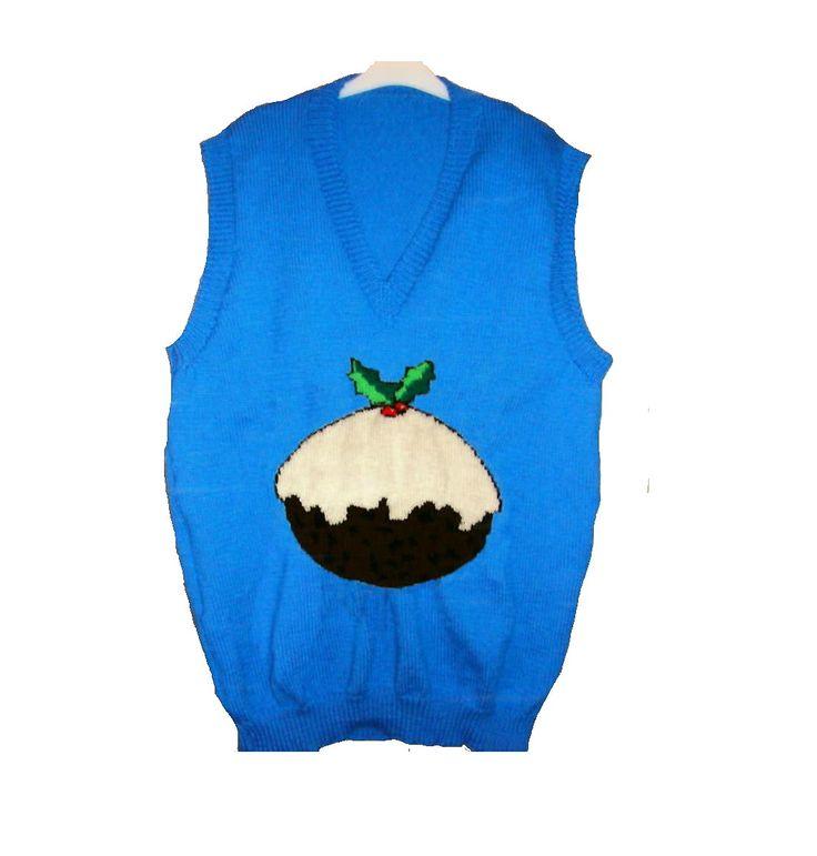 Ravelry: Christmas Pudding Tank Top / Sleeveless Jumper Knitting Pattern pattern by Blonde Moments