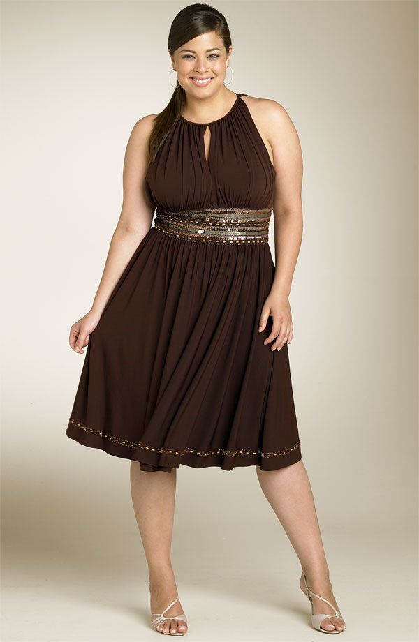 Silver and White Plus Size Short Dresses