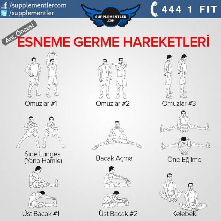 Antrenman öncesi germe egzersizleri www.supplementler.com Türkiye'nin Fitness Mağazası