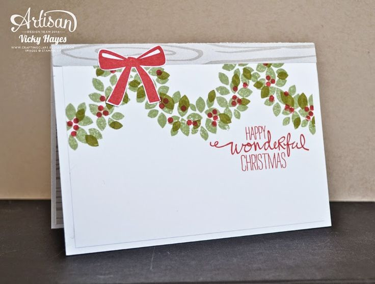 Stampin' Up ideas and supplies from Vicky at Crafting Clare's Paper Moments: Quick Wondrous Wreath makes - Stampin' Up artisan blog hop