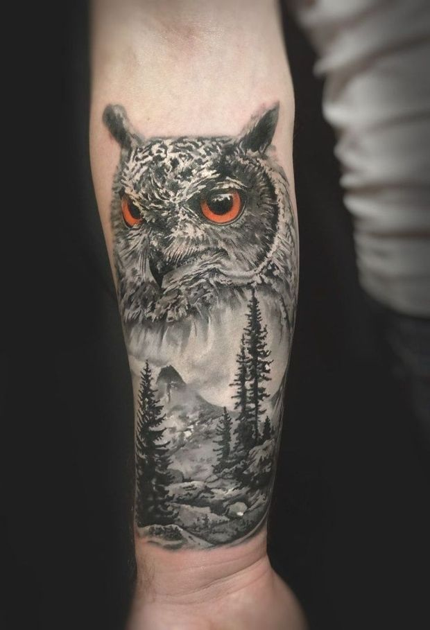 Pin By Jas Paredes On Sleeve Owl Tattoo Sleeve White Owl Tattoo Owl Tattoo Design
