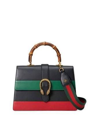 Gucci - Dionysus Leather Top Handle Bag