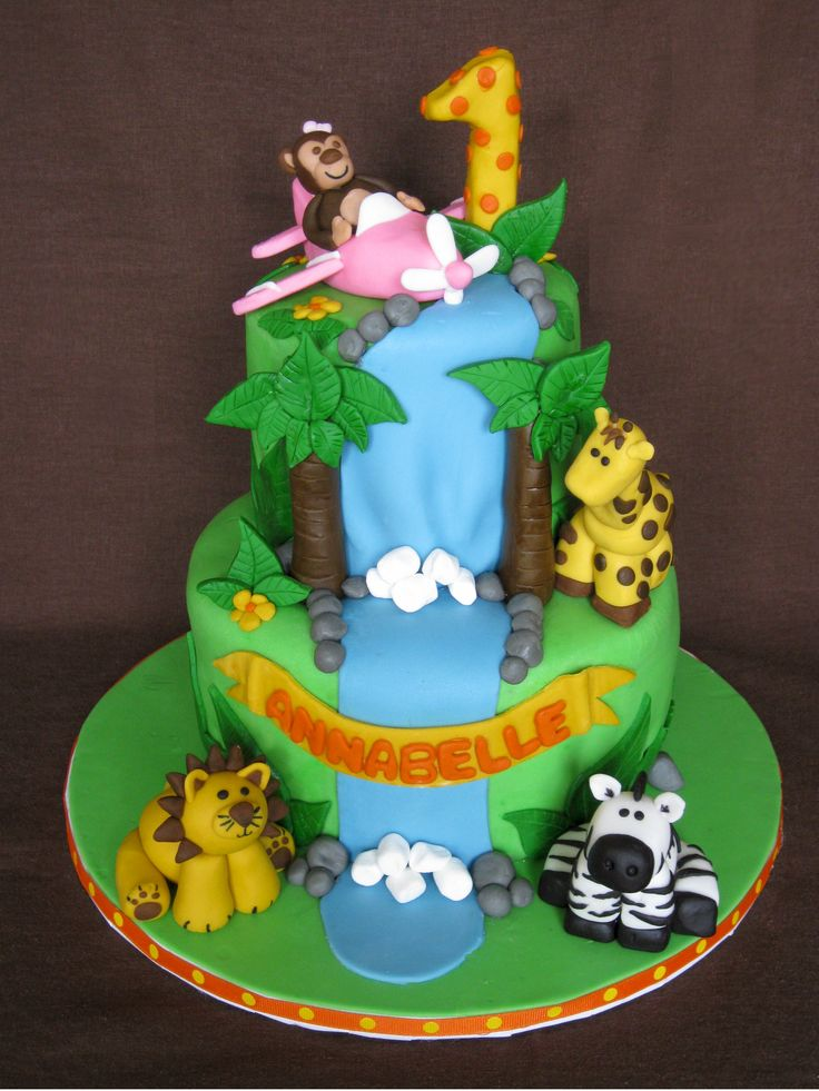 jungle birthday cakes - Google Search