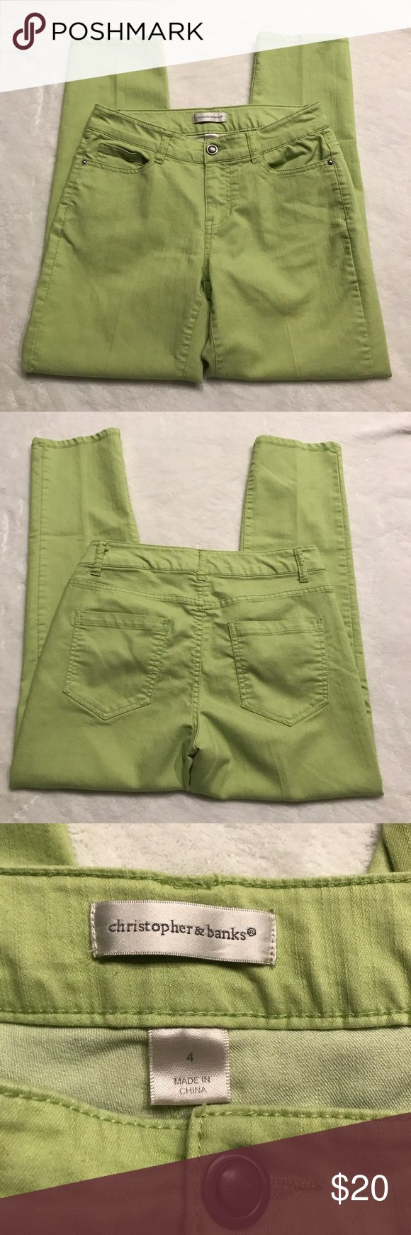 Christopher & Banks Lime Green Ankle Pants Cute lime green color Ankle Pants inseam 27 Christopher & Banks Pants Ankle & Cropped